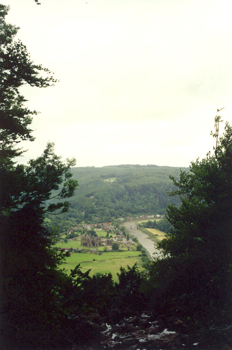 ¼ mile above Tintern Abbey and Wye River