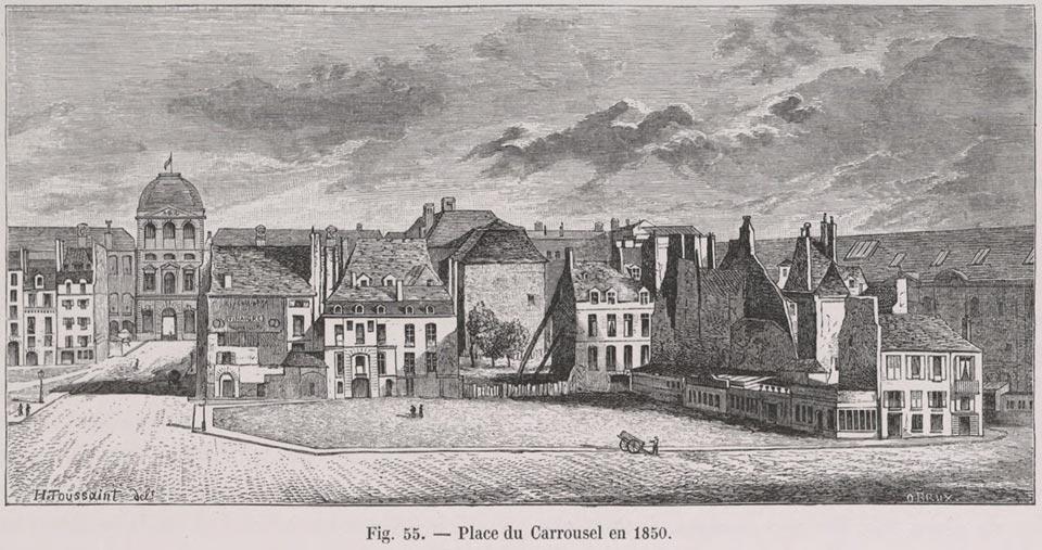 Place du Carrousel 1850